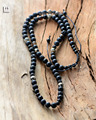Men Necklace Quality Matte Black Agate Lava Energy Beads Mens Shamballa Necklace Natural Stones Mens jewelry Custom Gift