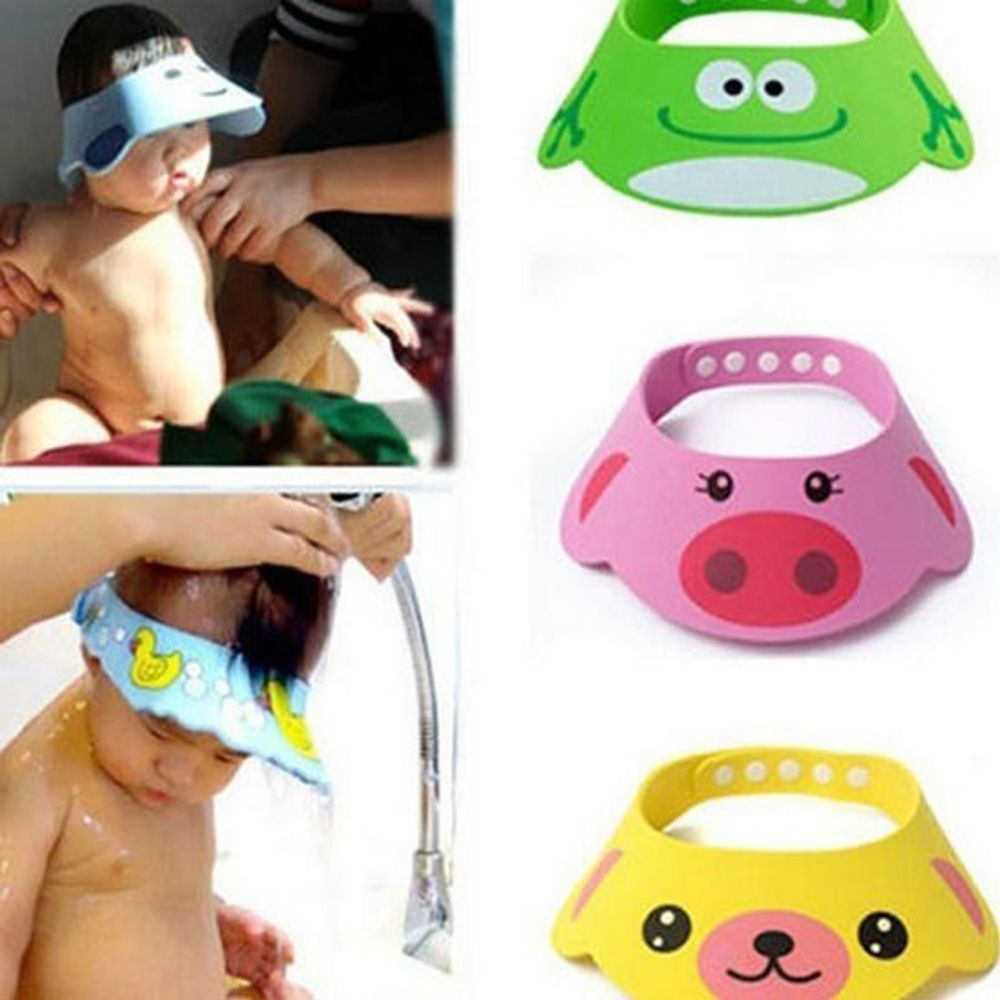 New Arrival Lovely Adjustable Baby Hat Toddler Kids Shampoo Bathing Shower Cap Wash Hair Visor Caps For Baby Care