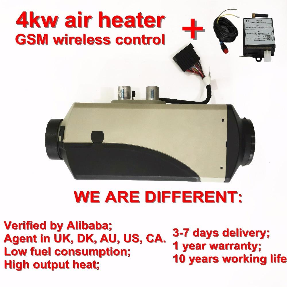 Avec contrôleur de téléphone portable GSM 4kw 24 v chauffage de stationnement d'air diesel similaire à Eberspaecher (pas d'origine) pour automobiles
