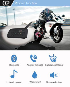 Image 2 - EJEAS V6 Pro Intercom Helmet Bluetooth Headset 850mAh Intercomunicador Microphone Metal Clamp MP3 GPS 1200m For 6 Riders