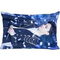 Kpop estrela exo chen retangular fronha de dois lados impressão cetim capa travesseiro personalizado seu presente imagem