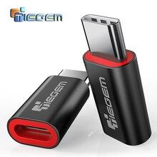 TIEGEM USB адаптер USB C к Micro USB OTG кабель type C конвертер для Macbook samsung Galaxy S8 S9 huawei mate 20 pro OTG адаптер