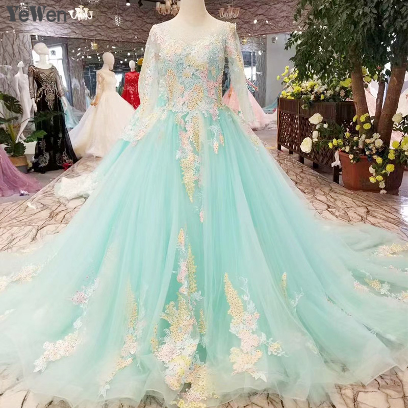 Blue Wedding Dresses 2019: Royal Blue Women Wedding Dresses 2019 Colorful Printing
