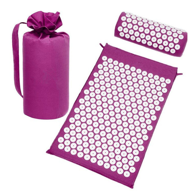 Massage Spike Yoga Mat Barbed Exercise Slim Fitness Pilates Massage Yoga Mat with Bag Acupressure Mat Banlance Pad,HB065