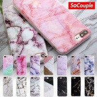 SoCouple Voor iphone 5 s 5 SE 6 6 s 8 6/7/8 plus X graniet Scrub Marmeren Steen afbeelding Geschilderd Siliconen Telefoon Case Voor iphone 7 case