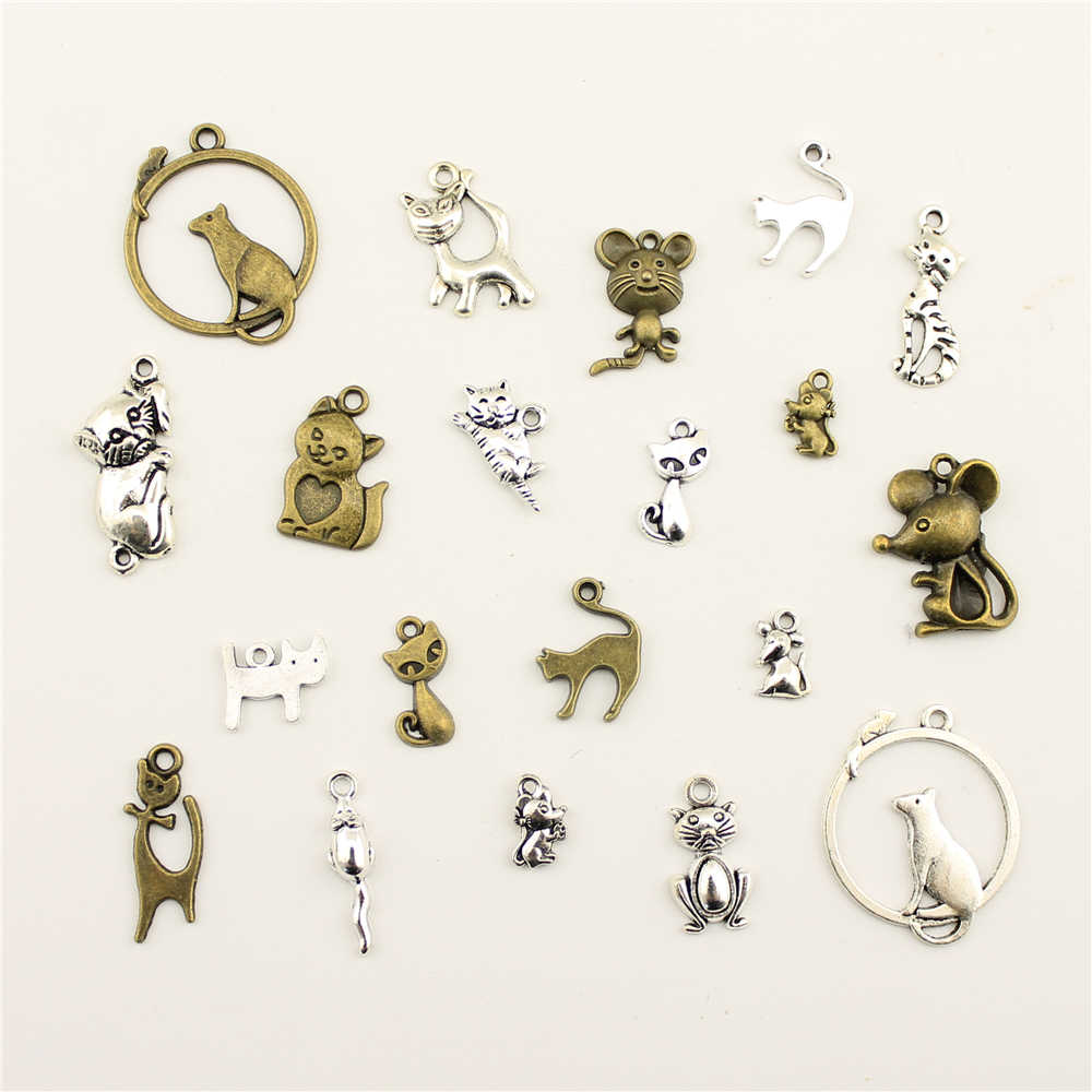 Charms For Jewelry Making Animal Cat Mouse  Accessories Parts Creative Handmade Birthday Gifts