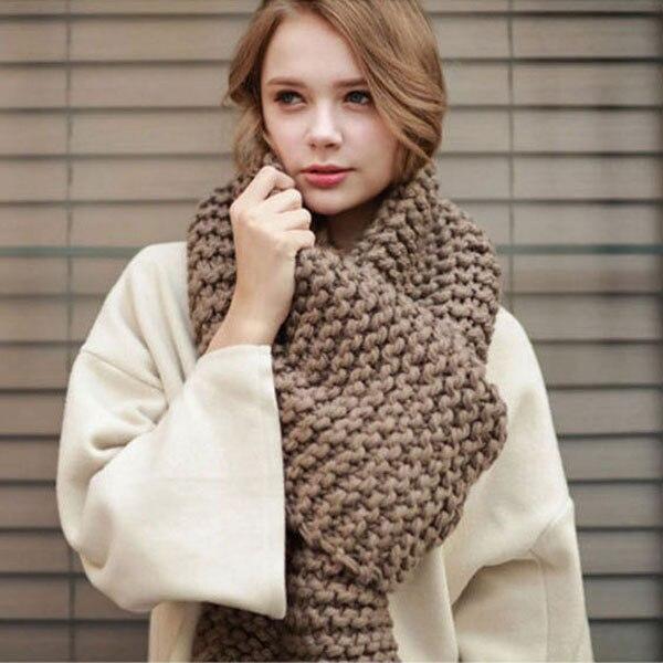 Модный популярный осенне-зимний стиль теплый мужской и женский шарф унисекс в полоску пашмины шерстяной вязаный Розовый Черный Хаки Шарф