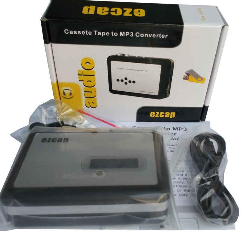 Ezcap カセットプレーヤー USB ウォークマンカセットテープ音楽オーディオ MP3 コンバータプレイヤー保存 MP3 ファイル usb フラッシュ/ USB ドライブ