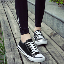 Vulcanize Shoes Women Flat with Korean Style Trendy Breathable Canvas