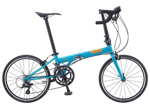 20 ''Alliage 2X9 S Shifter Route Vélo Pliant C De Frein Vélo Pliant Dur Cadre Standard Variable Adulte étudiants Vélo