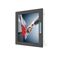 17 pulgadas LCD LED monitor de pantalla táctil incrustado pantalla LCD frontal IP65 Monitor impermeable
