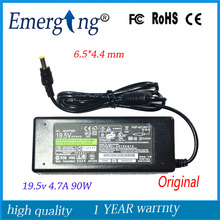 19.5V 4.7A 6.5*4.4mm 90W Charger Original AC Laptop Adapter For Sony
