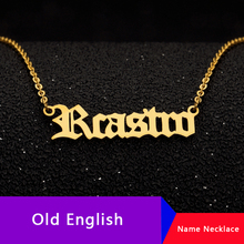 Personalized Custom Name Necklace BFF Old English Custom Name Choker Necklaces Pendents Bijoux Femme Custom Jewelry Accessories цена