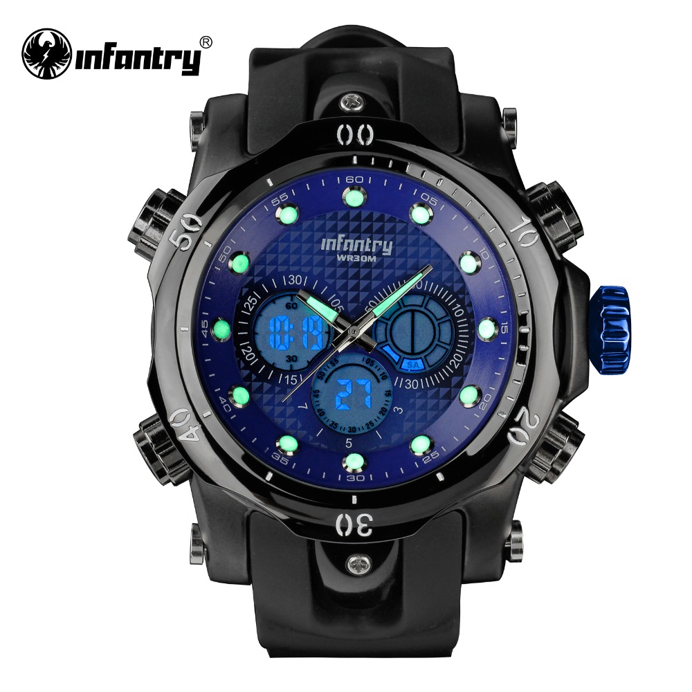 INFANTRY Military Watch Men LED Digital Quartz Mens Watches Top Brand Luxury Army Sport Police Black Silicone Relogio Masculino infantry army military watch men led digital quartz mens watches top brand luxury police square big tactical relogio masculino
