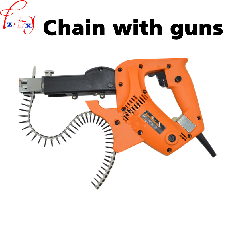 Woodworking decoration chain with screw gun professional automatic screw driver decorating tools 220V 780W цены