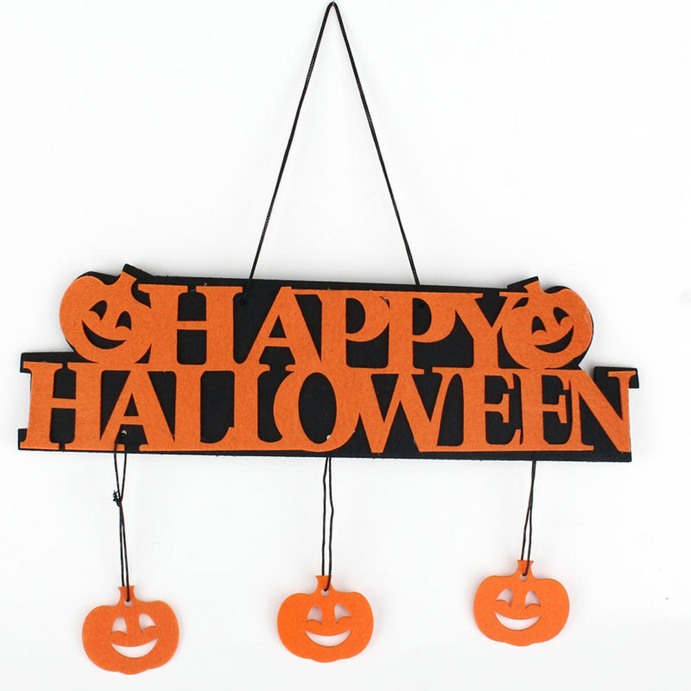 new creative 1pc multicolor high quality non woven fabric halloween banner garland ghost hanging decoration free shipping