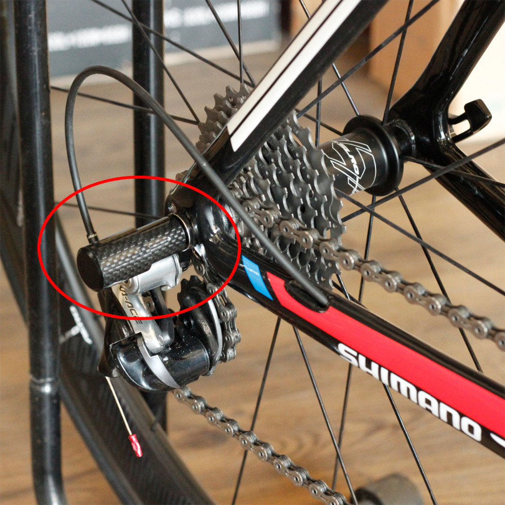 Fouriers Carbon Bicycle Rear Derailleur Protector Guard Gear Mount on Quick Release QR Cap Drivetrain Guards