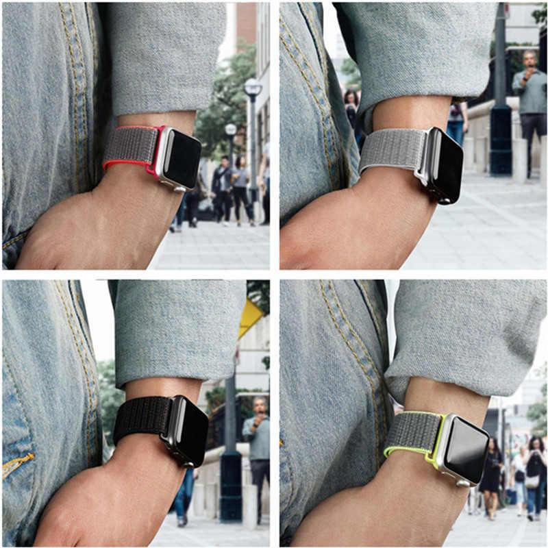 38 مللي متر 42 مللي متر حزام ساعة اليد ل أبل ووتش النايلون الاسترجاع أسورة يد ل i-WATCH4/3/2 حركة سلسلة 4 40 مللي متر 44 مللي متر حزام J2