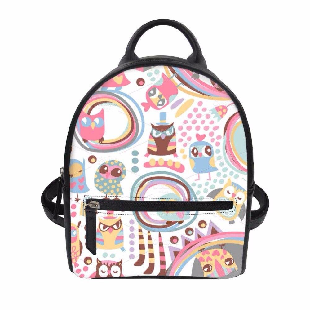 Noisydesigns Womens Small Backpack Korean 2018 Backpacks for Teenage Youth Leather Female School Shoulder Mochila For Girl Gift