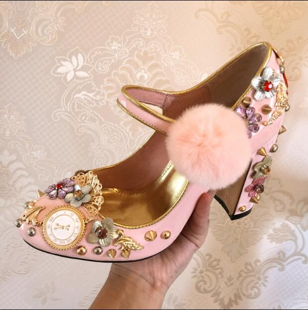 Chuassure marriage women sexy high heel shoes round toe crystal and gold mental decoration designer studded wedding pink heels chuassure marriage rhinestone high heel sandals 9 cm high thin heels open toe and closed toe studded silver women wedding shoes