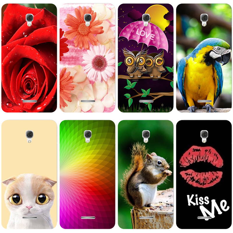 Lovely Fashion Coloured Painted Case For Alcatel One Touch Pixi 4 3G 5.0 OT 5010 5010D Case Cat Owl Cover For Alcatel 5010d image