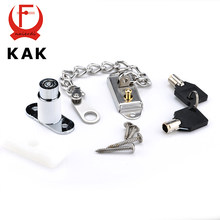 KAK Window Security Chain Lock Door Restrictor Child Safety Stainless Anti-Theft Locks For Home Sliding Door Furniture Hardware(China)