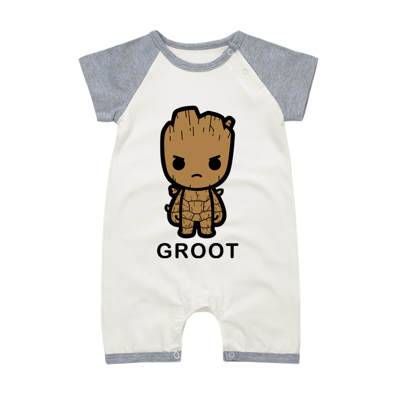 I Am Groot Cute Baby Girl Boy Romper Jumpsuit Bodysuit Clothes Outfit Set Hot