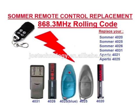 Sommer remote control replacement 868MHZ 4020 4025 4031 4026 rolling code free shipping rasoul moradi and hamid lankarani impact dynamics of mechanical systems and structures