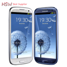 "Unlocked Original Samsung Galaxy S3 i9300 Cell phone Quad Core 8MP Camera NFC 4.8"" GPS Wifi 3G Phone Refurbished Free shipping"