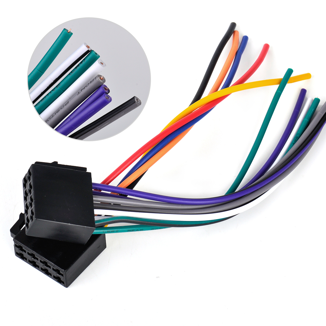Citall Iso Radio Wire Harness Female Adapter Connector Cable For Car Bmw Wiring Stereo System Mercedes Audi Vw Toyota Nissan Kia In Cables Adapters Sockets