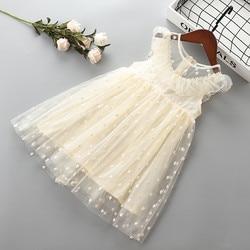 Платье для девочек, с бантом и цветами, От 2 до 7 лет, лето 2019