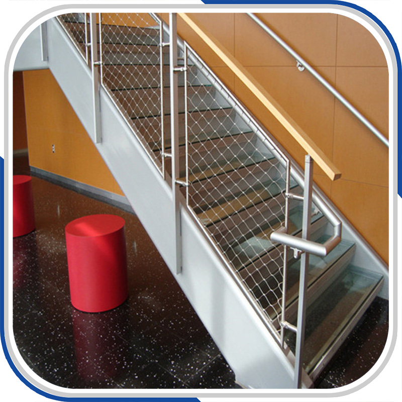 SUS 316 hülse art edelstahl drahtseil mesh für treppen geländer mesh ...