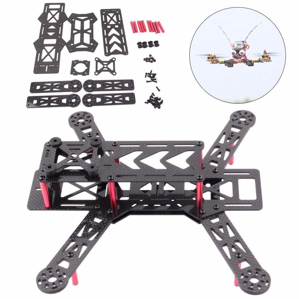 New Carbon Fiber Mini 250 FPV Quadcopter Frame Kit Mini Quad Frame for QAV250 DIY high quality carbon fiber mini 250 fpv quadcopter frame mini quad frame holder for zmr250 qav250