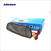 Liislee For BMW 5 F10 F11 F07 Rearview Mirror Car Monitor Color Screen Display / 4.3 inch / HD TFT LCD NTSC PAL Color TV System