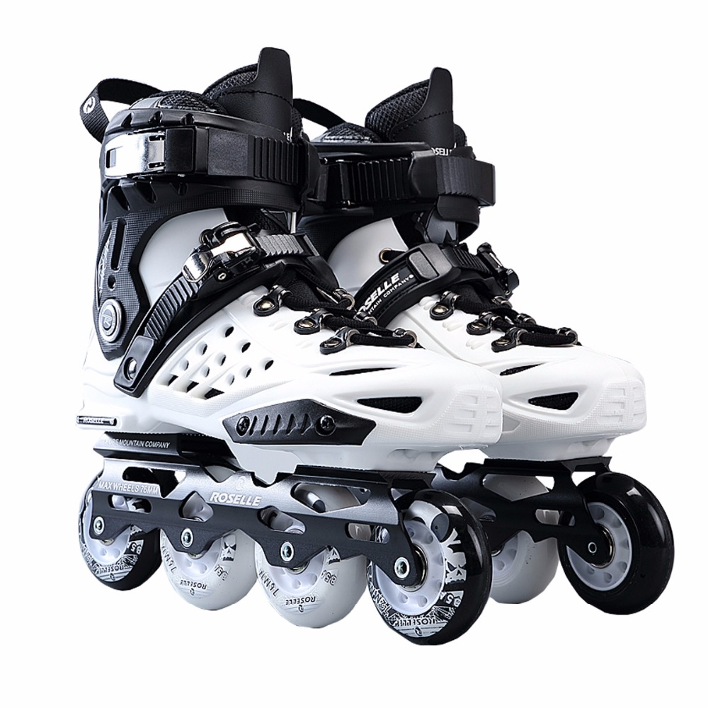 Brand New Outdoor Skate Shoe Comfortable Adult Inline Skating Shoes/Roller Patins/ Patins Adulto FSK Size EU35-45 [7000 aluminium alloy] original vortex inline speed skate frame base for 4x110mm 4x100mm 4x90mm skating shoe bcnt sts cityrun