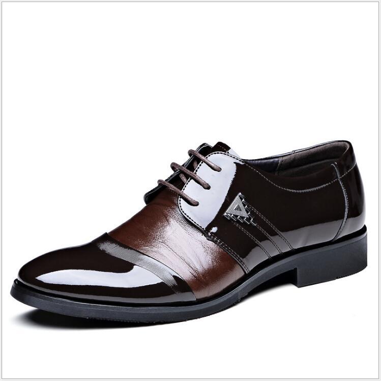 2016 Hot Sale Men Shoes Luxury Business Oxfords Male  Leather Footwear Black/Brown Dress Men Flat Shoes