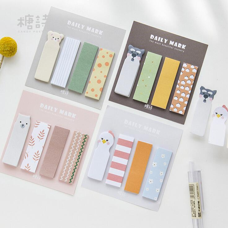 Daily Mark Memo Pad N Times Sticky Notes Escolar Papelaria School Supply Bookmark Label the color of the rainbow cloud memo pad sticky notes memo notebook stationery papelaria escolar school supplies