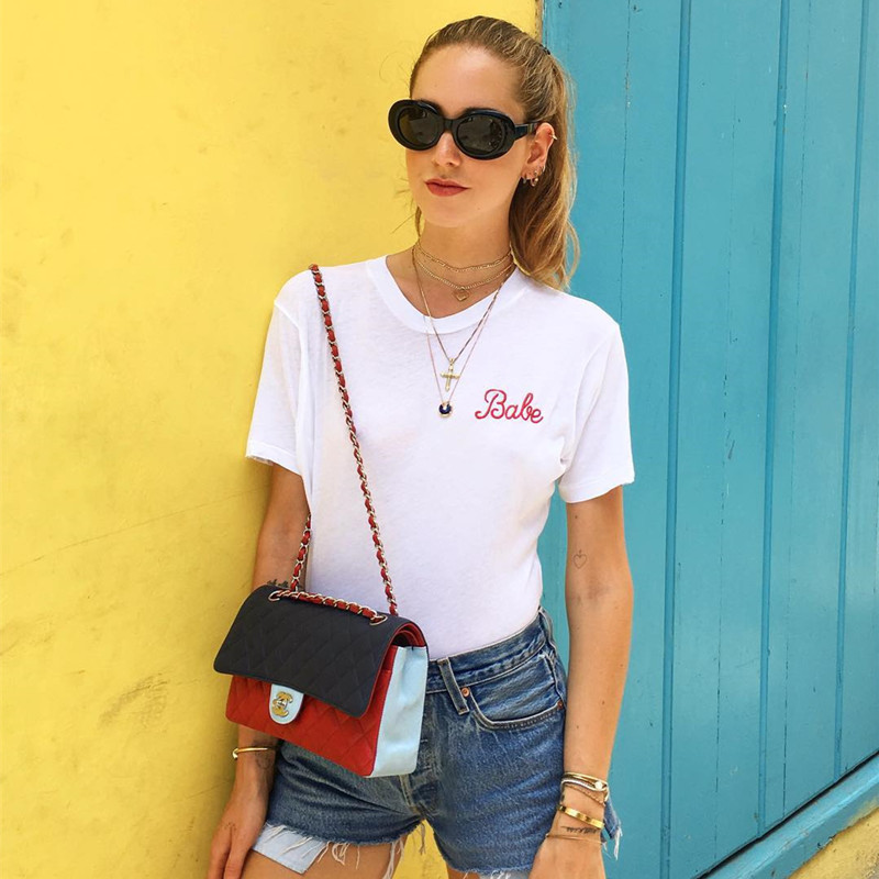 NiceMix 2019embroidery t shirt women summer cotton short sleeve t shirt causal loose o neck cofortalbel tops in T Shirts from Women 39 s Clothing