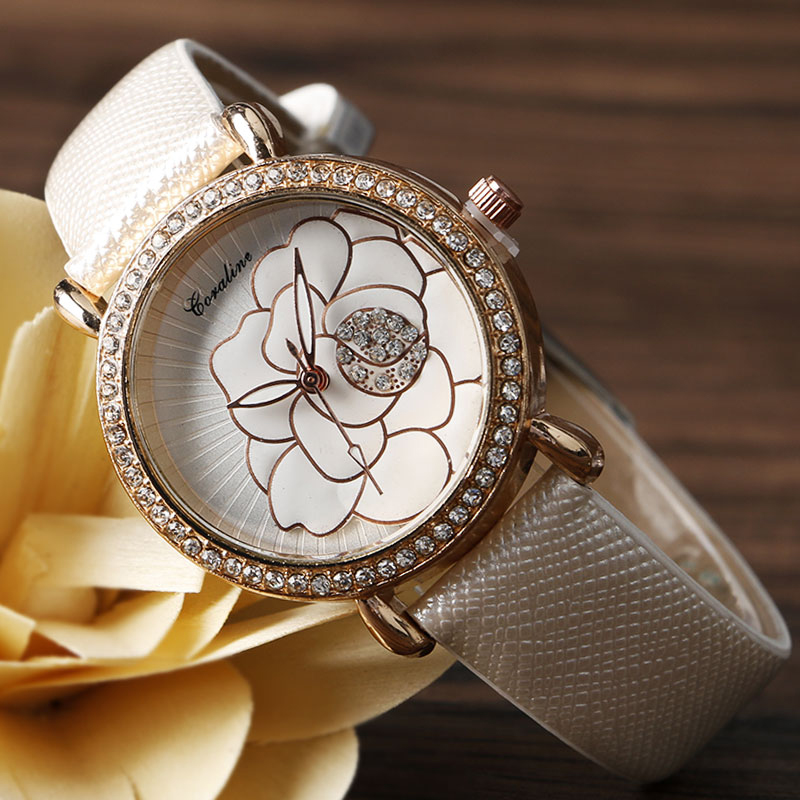 GOTALINE Brand Women\'s Watch Elegant Brief Flowers Dial Wrist ...