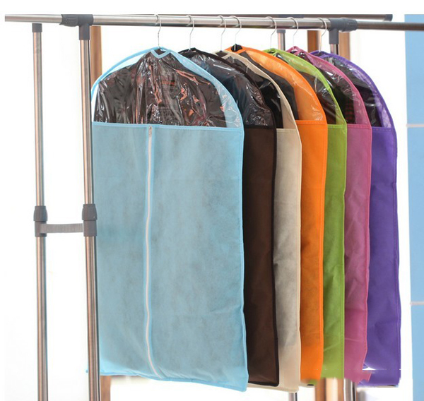 Random Color Stylish Home Dress Clothes Garment Suit Cover Case Dustproof Bags Protector Hanging Clothing Bags