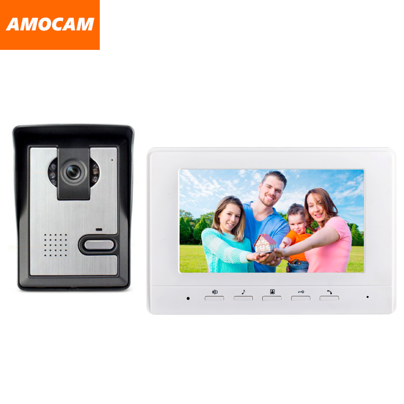 7 Inch Monitor Video Door Phone Intercom Doorbell System visual intercom doorbell Video Intercom doorphone Door bell kit yobangsecurity wifi wireless video door phone doorbell camera system kit video door intercom with 7 inch monitor android ios app