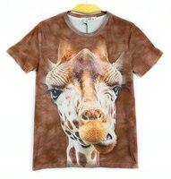 Teenage Boys Clothing Summer Short Sleeves Animal Head 3d Printed T Shirts Children Blouse Sweatshirt Boys