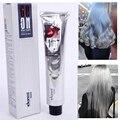 100 ML de Creme Cor de Cabelo Light Grey Cor Permanente Super Personalizado Cor da Tintura de Cabelo Não-tóxico para o Cabelo DIY Creme estilo Luz