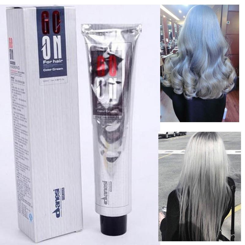 100 ml cheveux couleur crme gris clair couleur permanent super cheveux colorant non toxique personnalis couleur pour diy cheve - Shampoing Colorant Gris