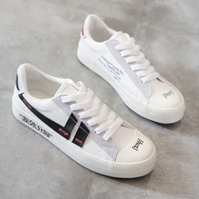 2019 New Small White Shoes Girls Canvas Comfortable Flat Sports Super Wear Running