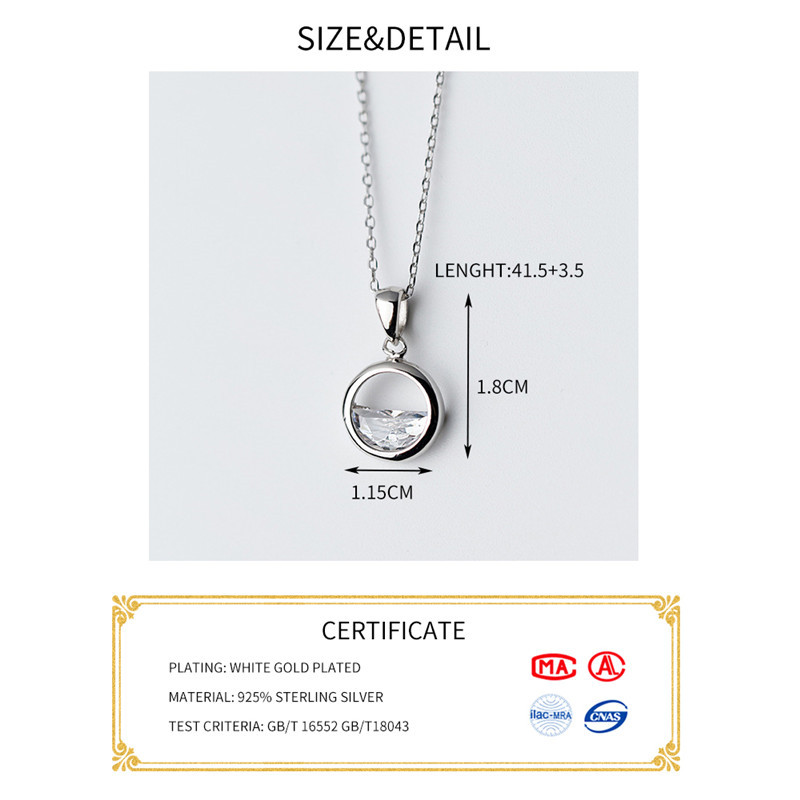 HTB1u3BTKeGSBuNjSspbq6AiipXaF INZATT Real 925 Sterling Silver Crystal Round Minimalist Pendant Necklaces Minimalist Fine Jewelry For Women Party Accessories