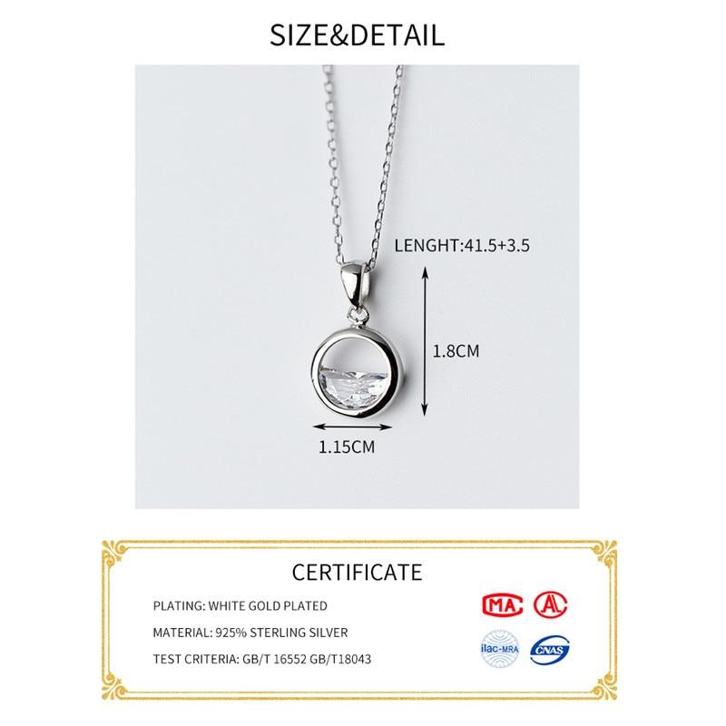 HTB1u3BTKeGSBuNjSspbq6AiipXaF INZATT Real 925 Sterling Silver Crystal Round Minimalist Pendant Necklaces Minimalist Fine Jewelry For Women Party Accessories