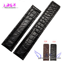 Alligator leather strap adapter TAG card laila inheritance 6 19 20  22 mm band