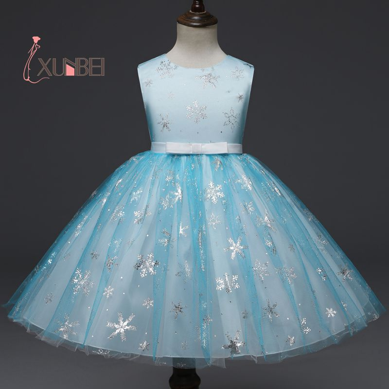 New Arrival Light Sky Blue Tulle   Flower     Girl     Dresses   2019 Appliqued Communion   Dresses   For   Girls   Pageant   Dress