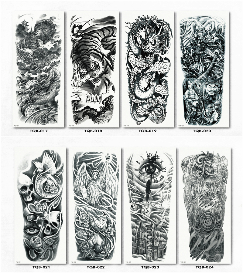 "Chameleon Arts Tattoo Flash: Aliexpress.com : Buy Nu TATY ""Black Dragon Tiger"" Full"